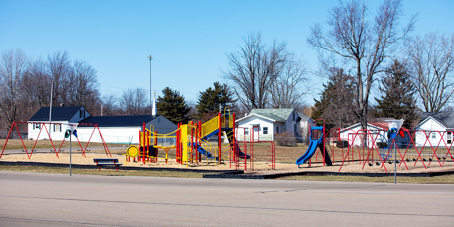 Large outdoor playground.